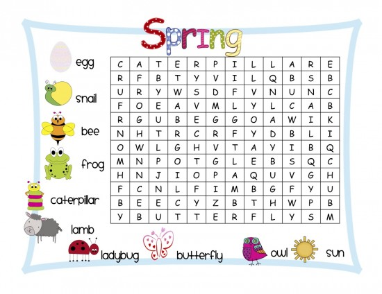 9 Images of Spring Fun Printable Worksheets