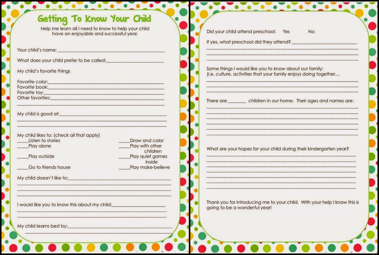 Worksheets Getting To Know Students Worksheet 6 best images of getting to know student printable get you worksheet via kindergarten interest inventory printable