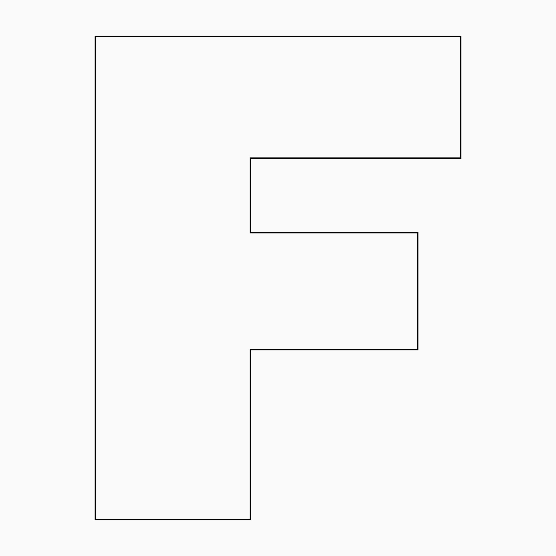 Large Printable Letter F
