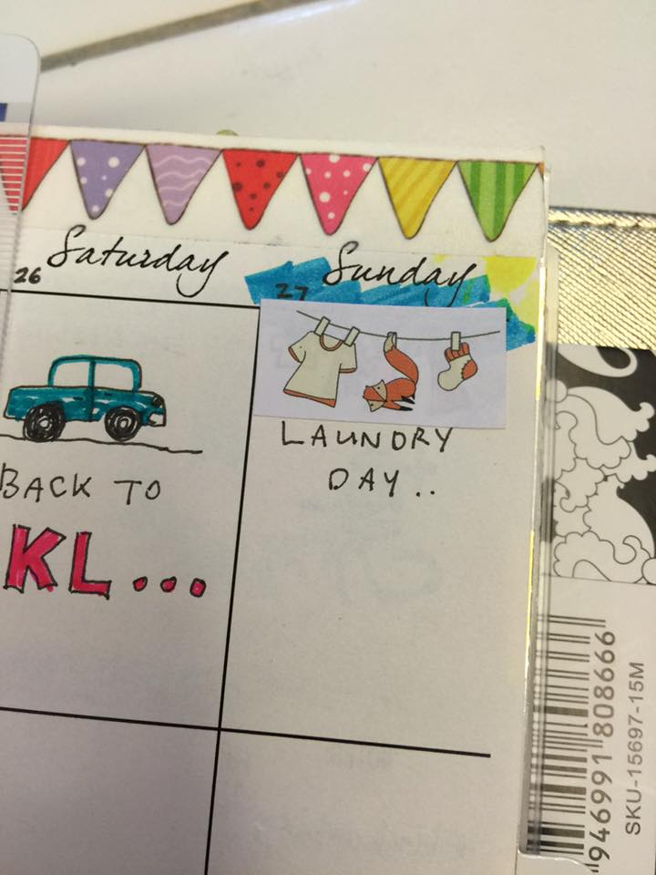 Laundry Stickers for Planners Printable Free
