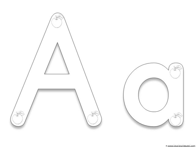 6 Images of Alphabet Letter AA Printable Coloring Pages