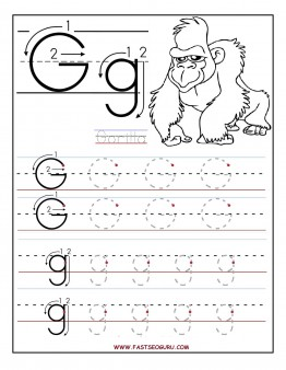 7 Images of Preschool Letter G Printable Pages