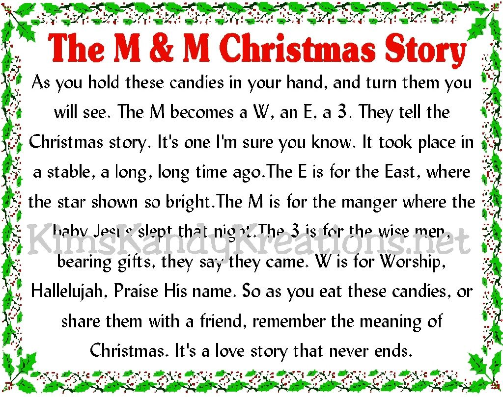 6 Images of M M Christmas Story Printable