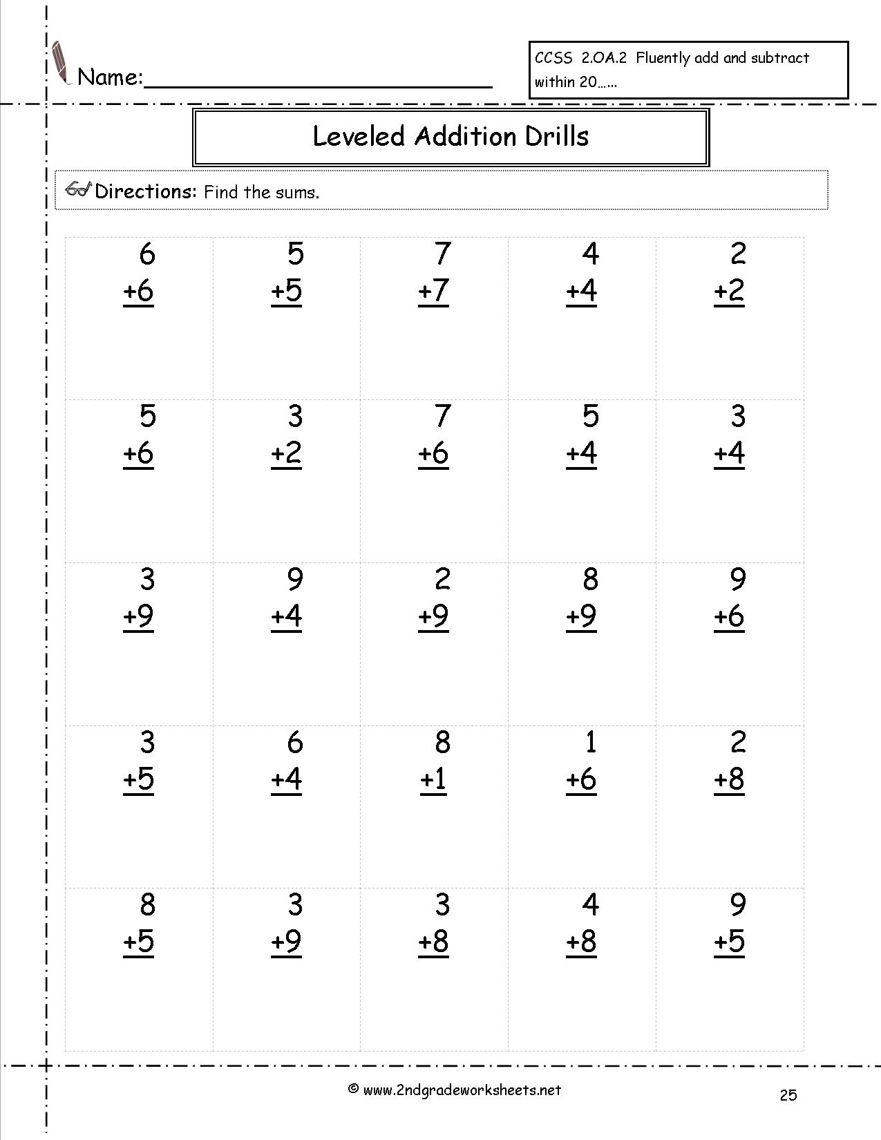 Worksheets Printable Grade 2 : Best images of free printable math worksheets grade