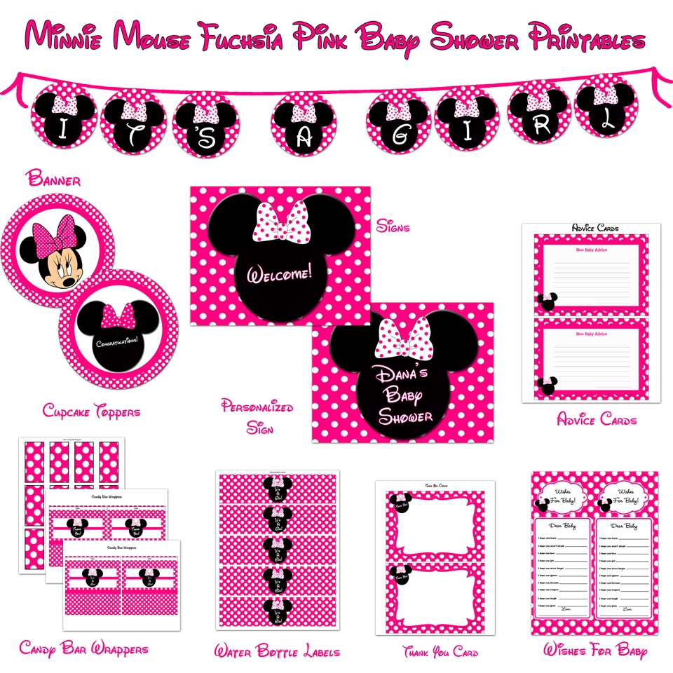 invitations printables 7 best images of minnie mouse baby shower free