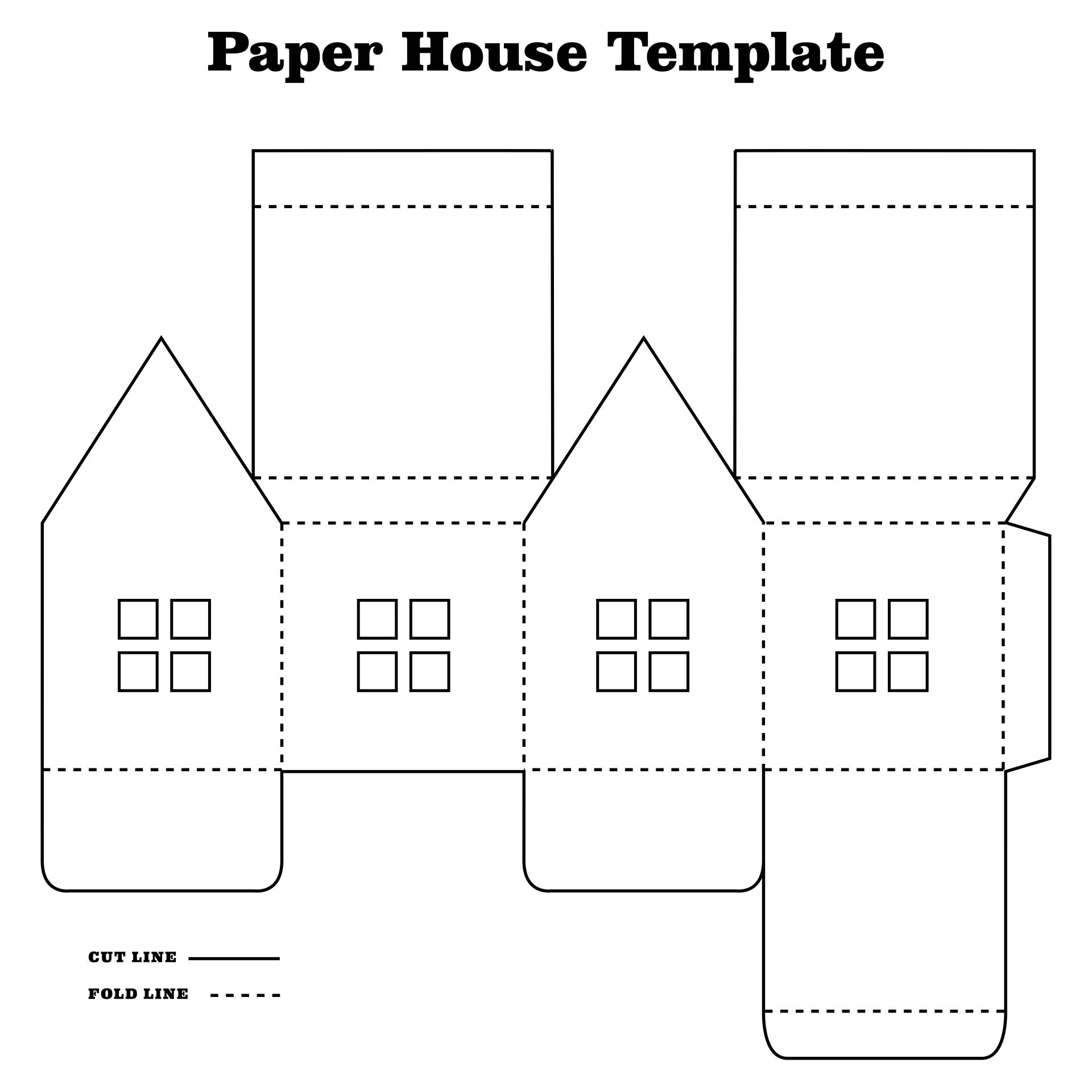 7 Best Printable Paper House Template Printablee Com