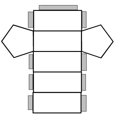 4 Images of Pentagonal Prism Net Printable