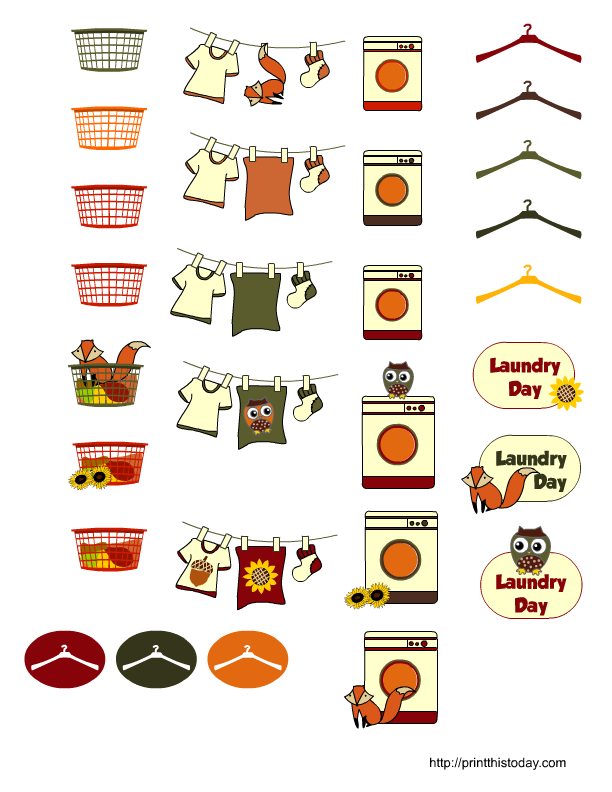 5 Images of Fall Planner Stickers Free Printable
