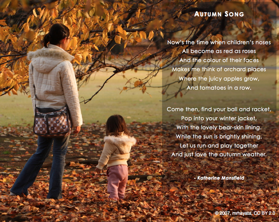 6 Images of Printable Fall Poems