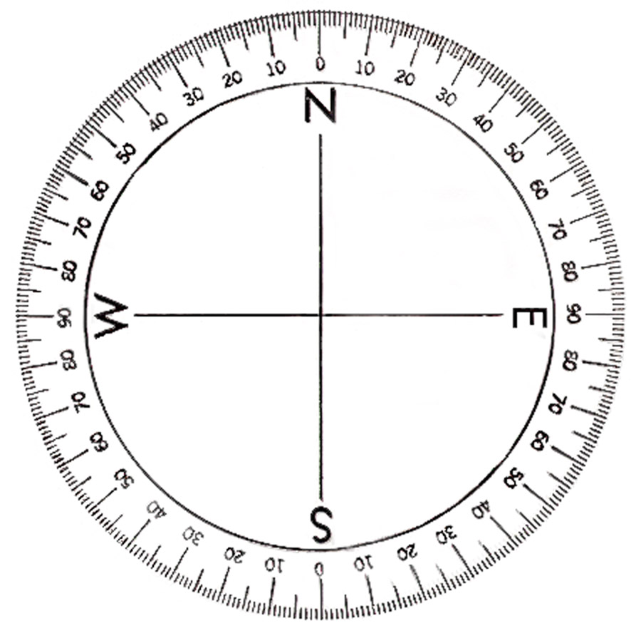 7 best images of printable degree wheel compass