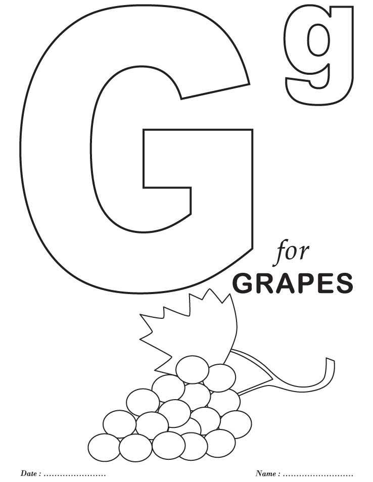 7 best images of preschool letter g printable pages