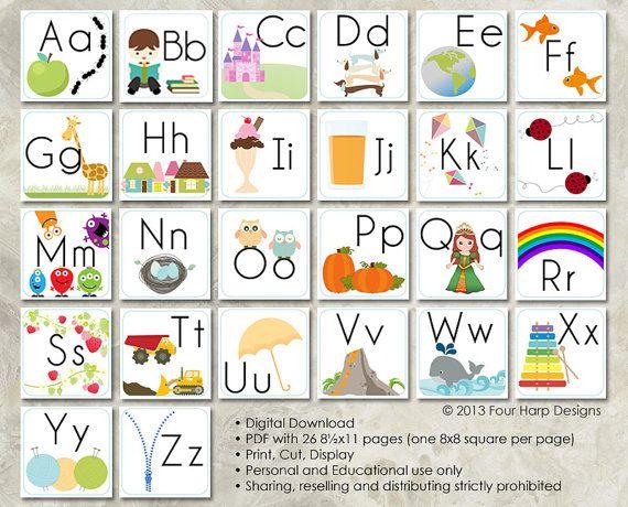 Printable Alphabet Wall Cards