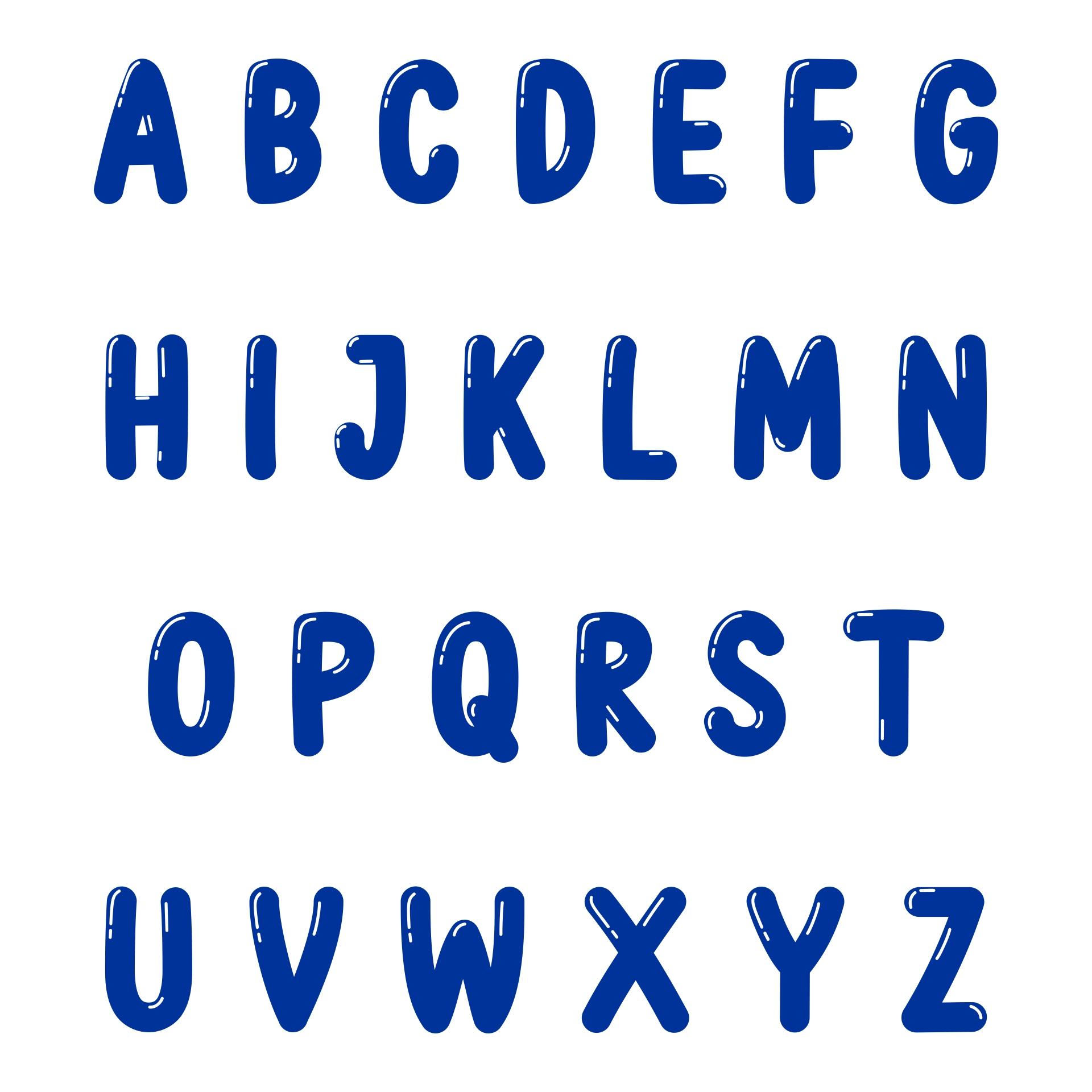 Printable Bubble Letter Font