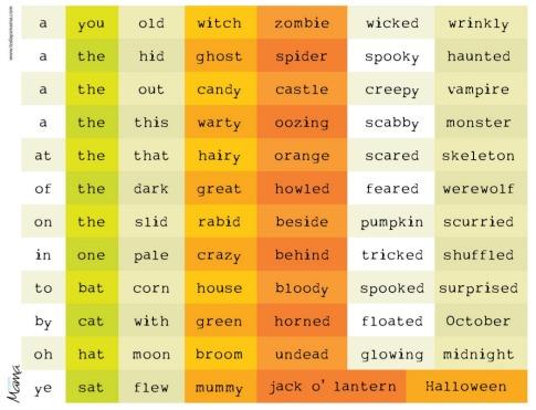 Printable Christian Halloween Poems