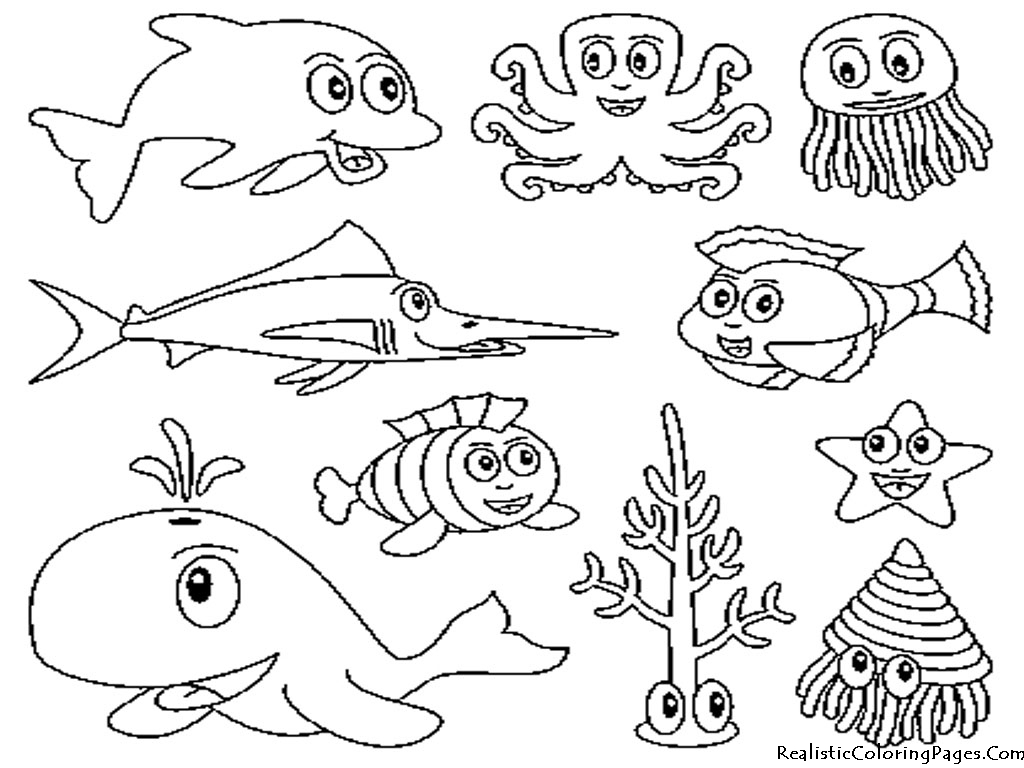 5 Images of Ocean Animals Printable