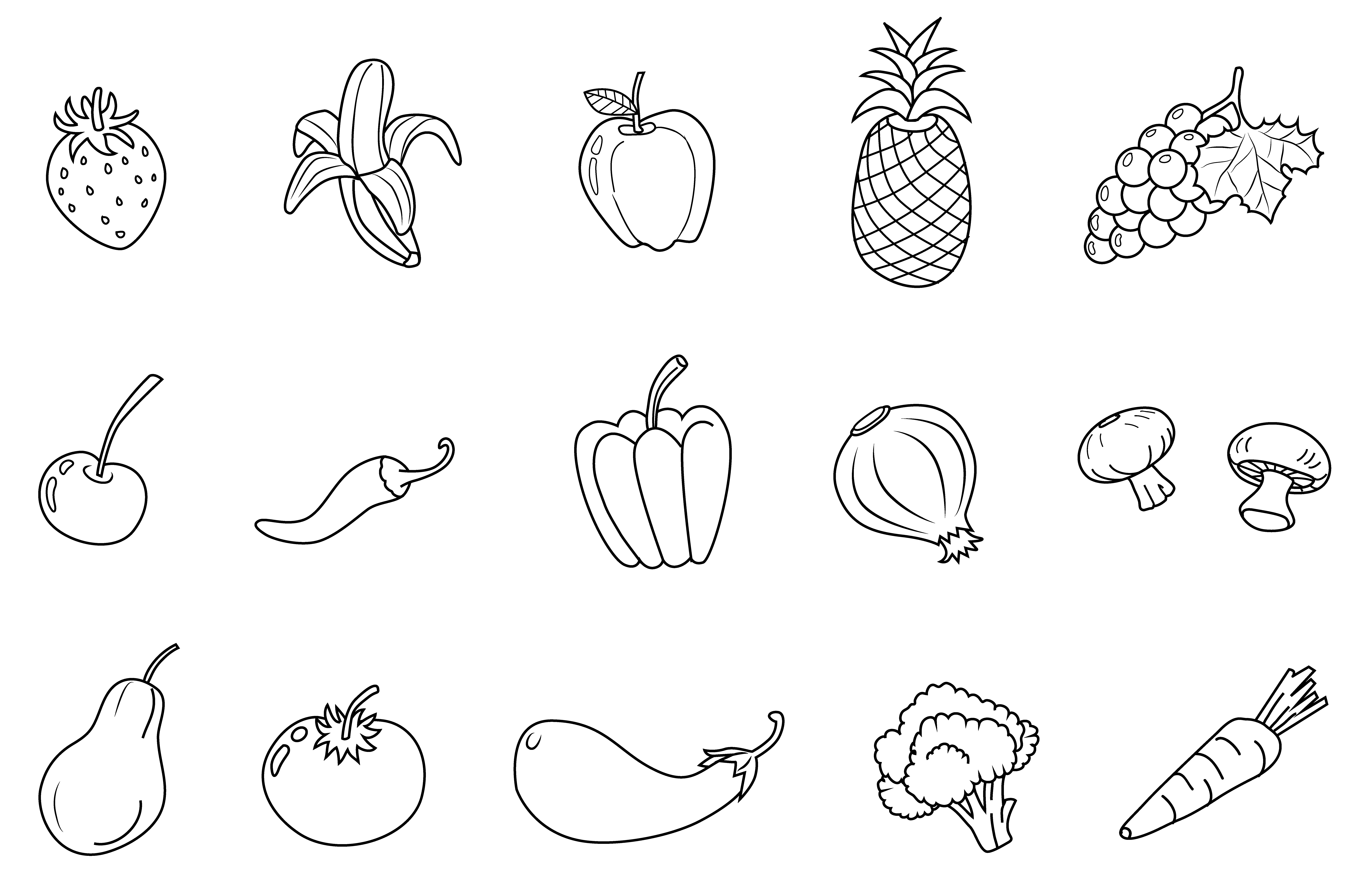 6 Best Images of Printable Vegetable Clip Art - Fruits and ...