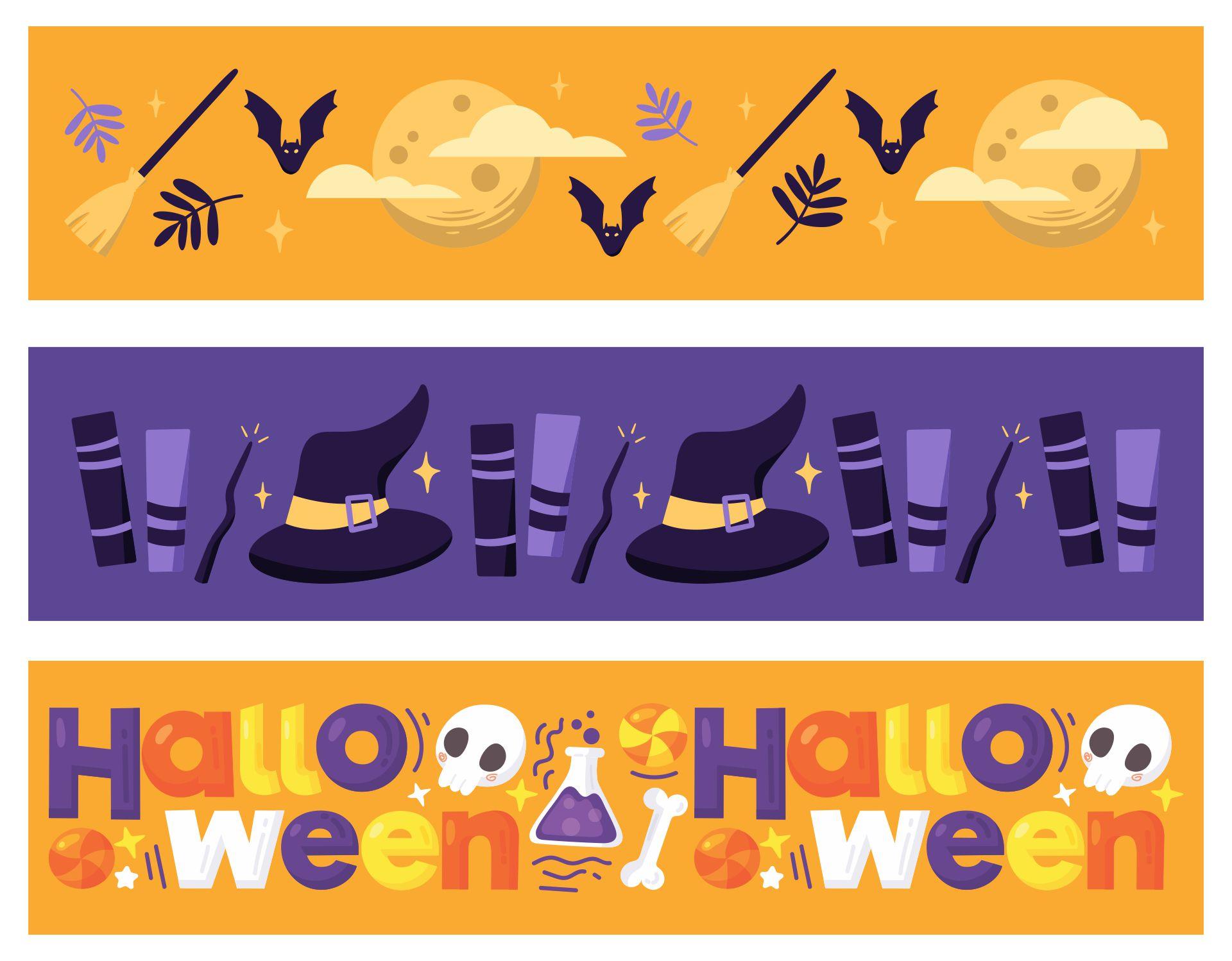 Printable Halloween Bookmarks for Kids