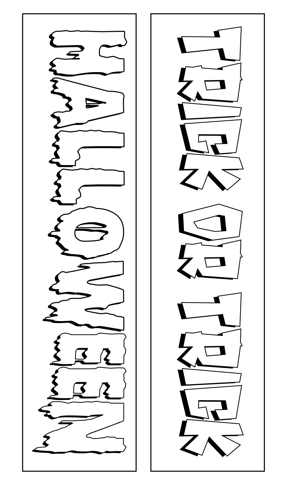 8 Images of Halloween Bookmark Printable
