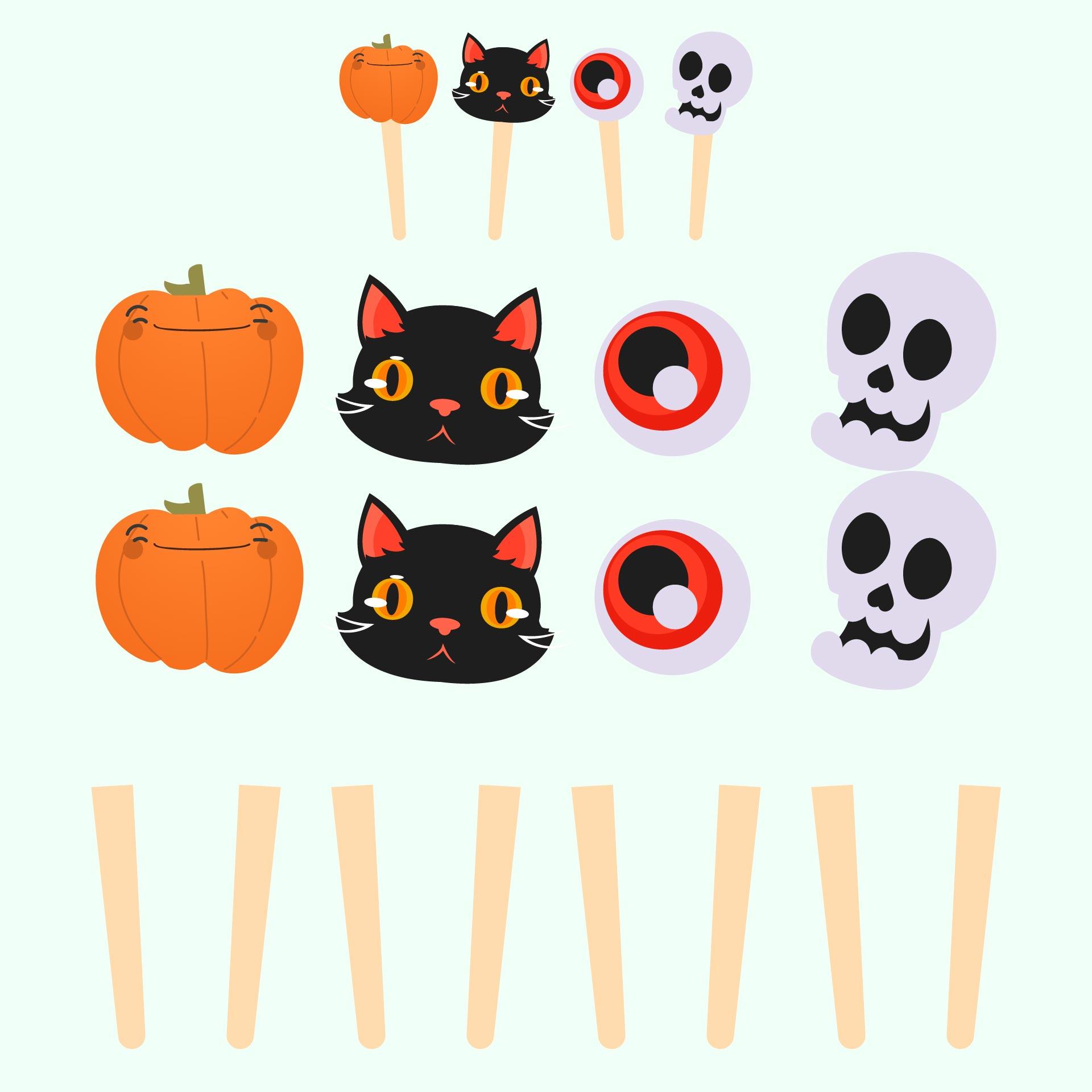 Printable Halloween Lollipop Crafts