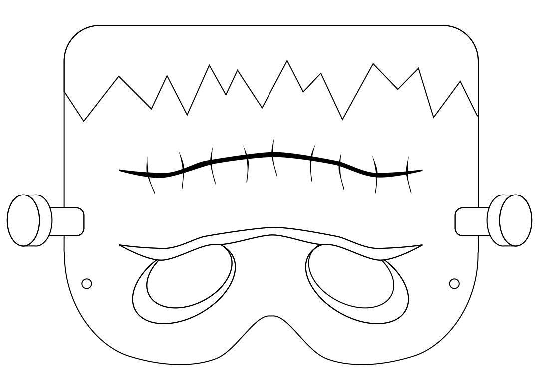 Printable Halloween Mask Coloring Pages