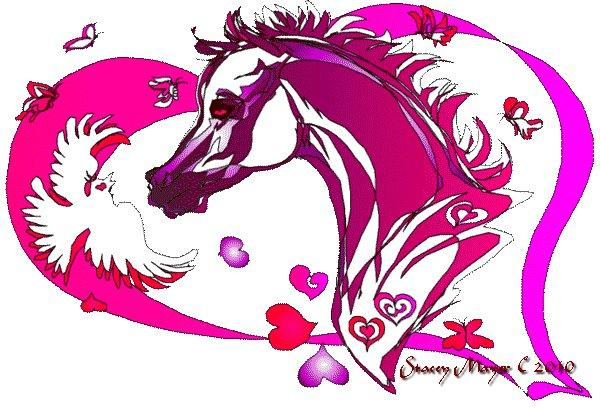 5 Images of Free Printable Horse Valentine Cards