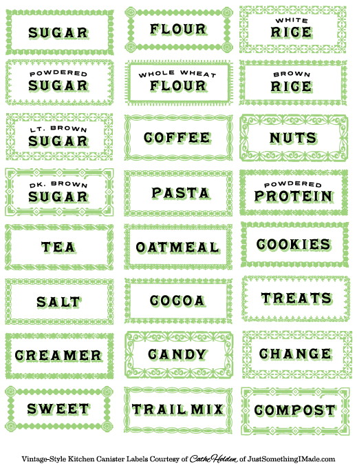 7 Images of Container Labels Printable