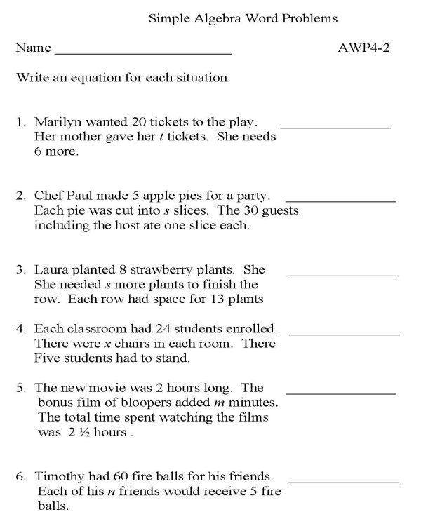 Printables. 6th Grade Math Word Problems Worksheets. Gozoneguide ...