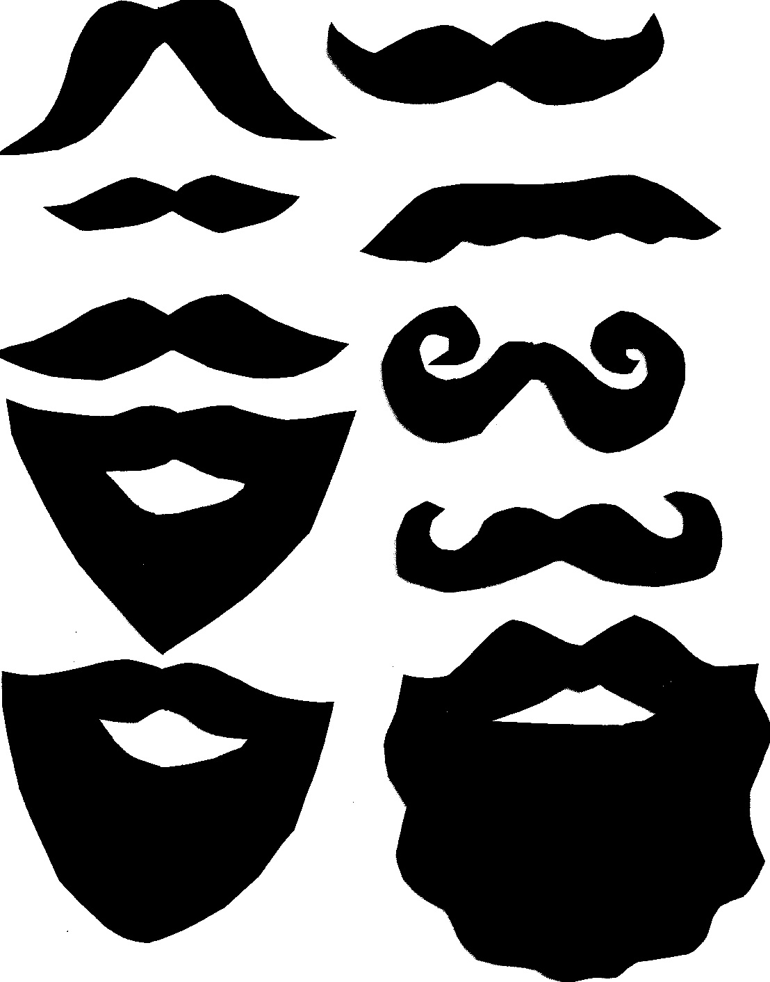 7 Images of Mustache Clip Art Printables