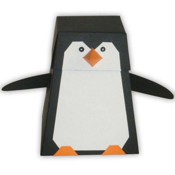 Printable Penguin Gift Box