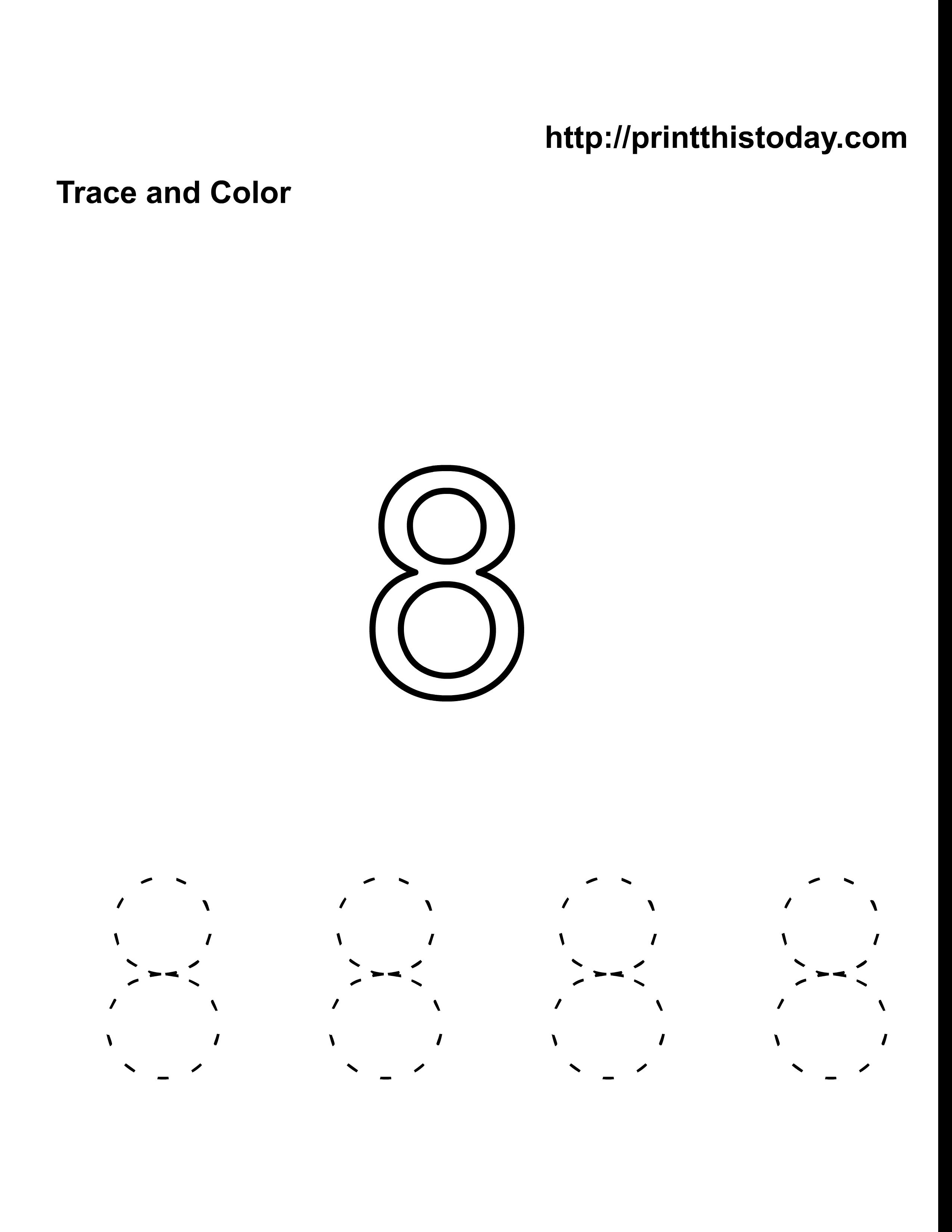 7 Images of Printable Number 8 Worksheet
