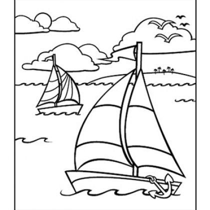 6 Images of Nautical Free Printable Coloring Pages