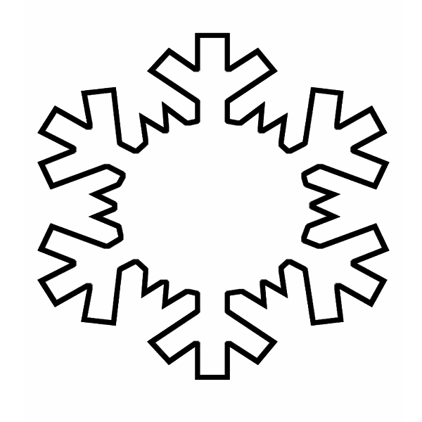 6 Images of Snowflake Outline Printable