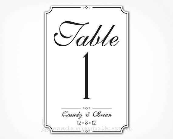 7 best images of wedding table numbers printable 4x6 printable table number templates 4x6 for Wedding table numbers template
