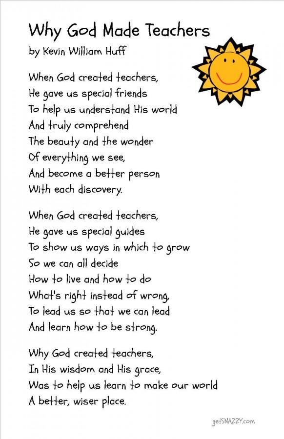 Printable Teacher Poems