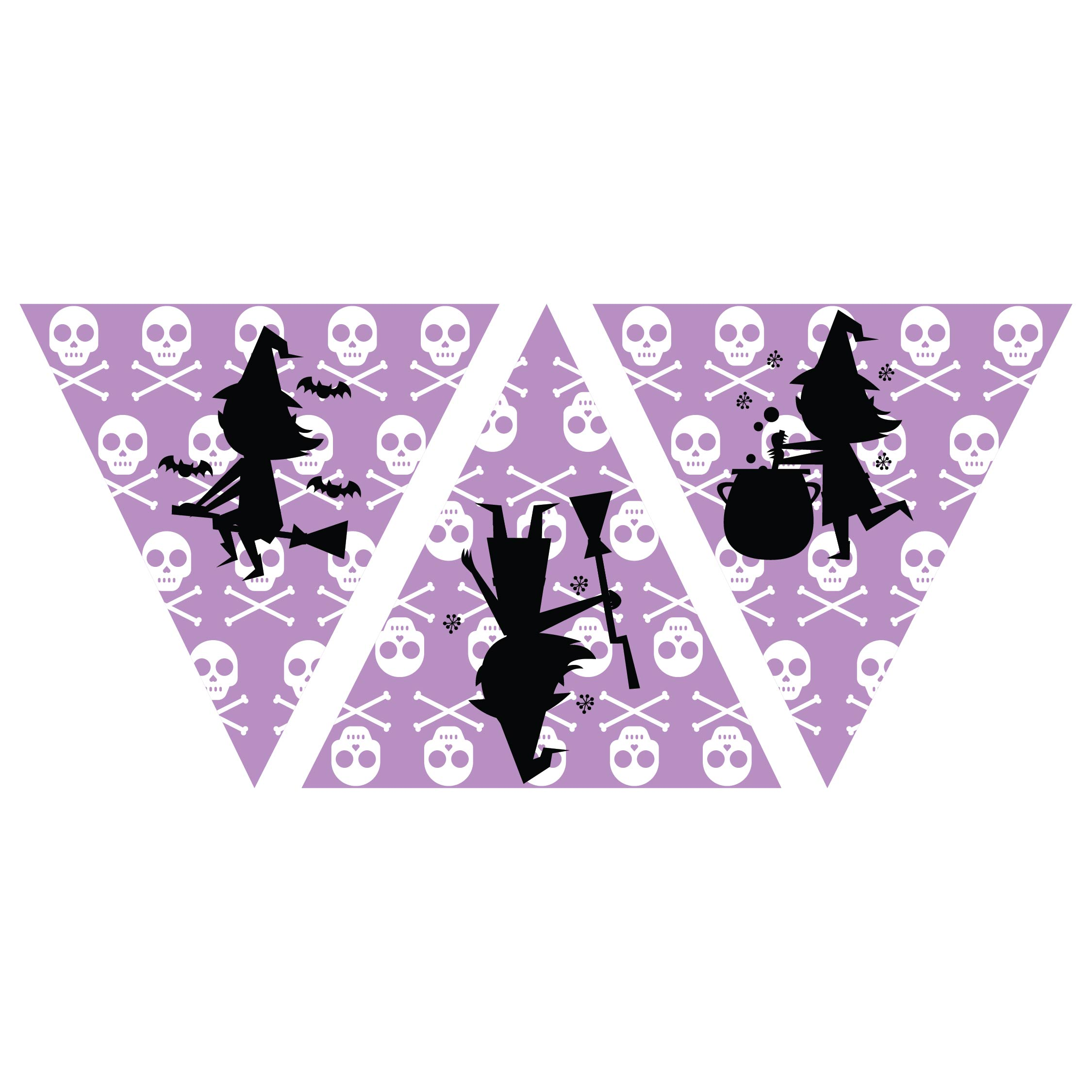 Printable Vintage Halloween Witch Silhouettes