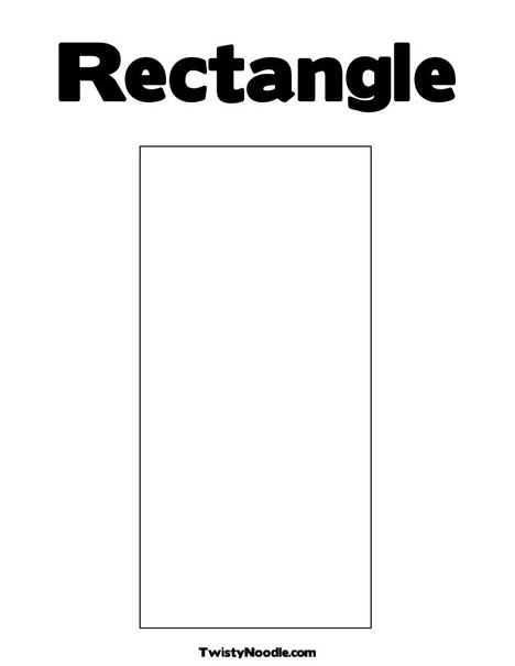 5 Images of Rectangle Template Printable