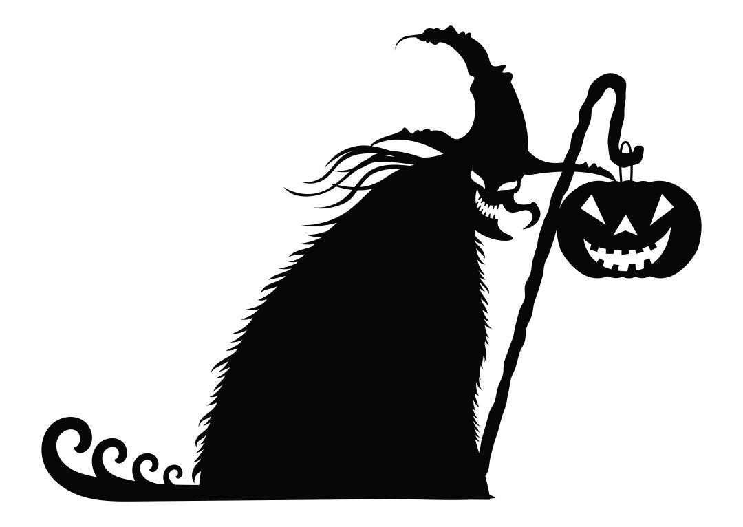 Scary Halloween Silhouettes Printable