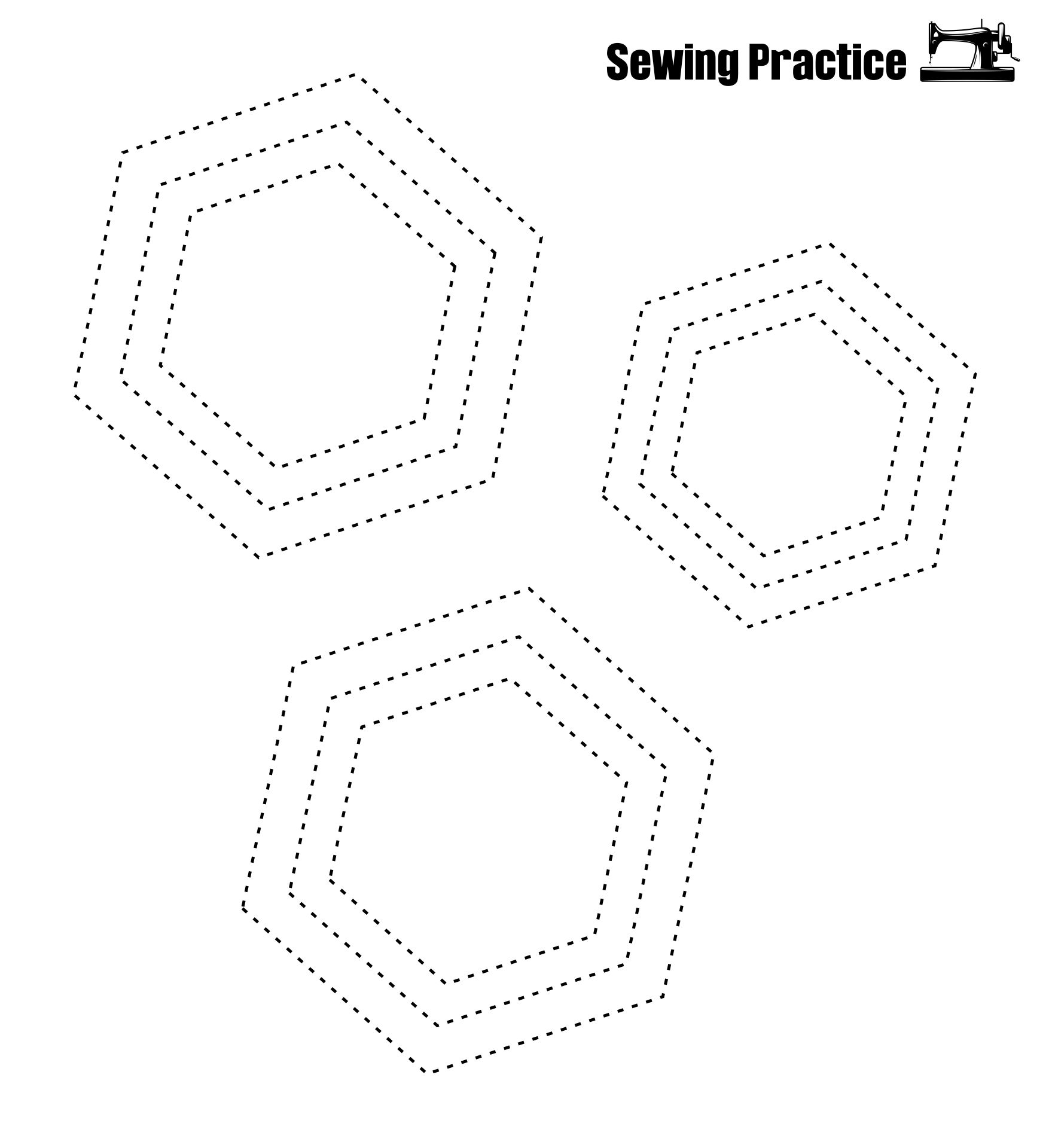 Sewing Practice Sheets