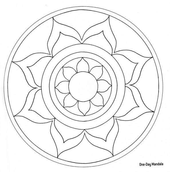8 Images of Printable Mandala Blank Coloring Page