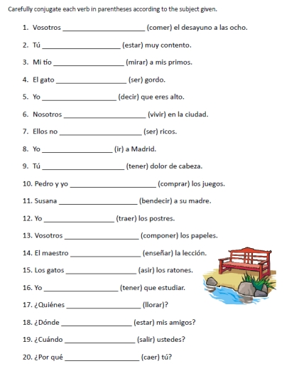 Printables Grammar Printable Worksheets printables grammar printable worksheets safarmediapps 8 best images of free spanish verb conjugation printable