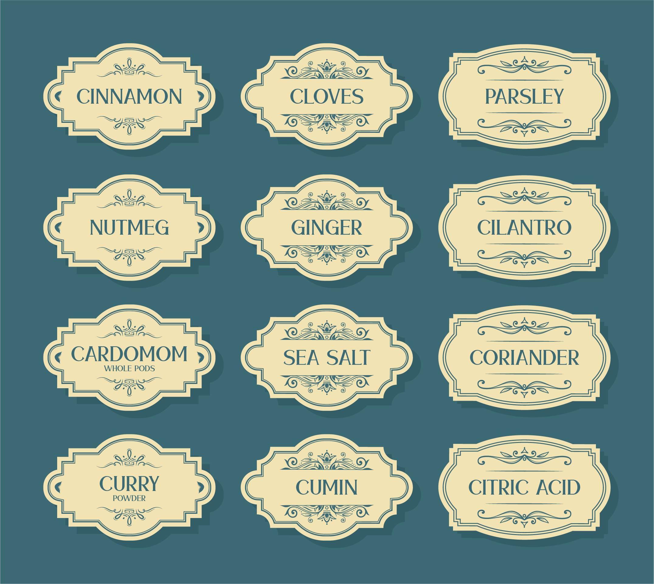 Spice Label- Printables