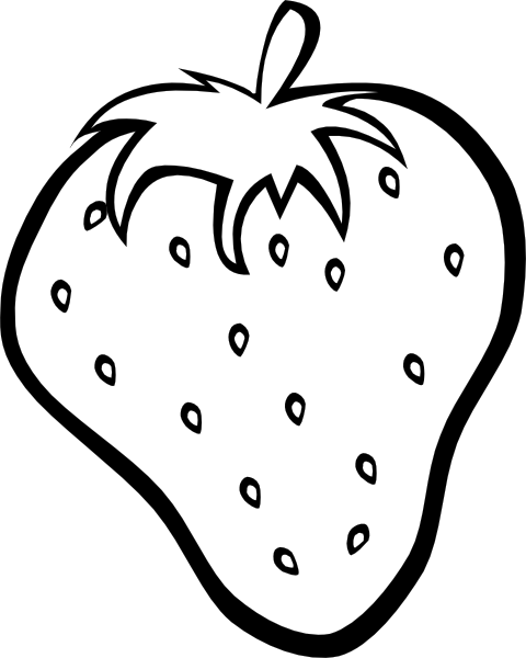 4 Images of Printable Strawberry Template
