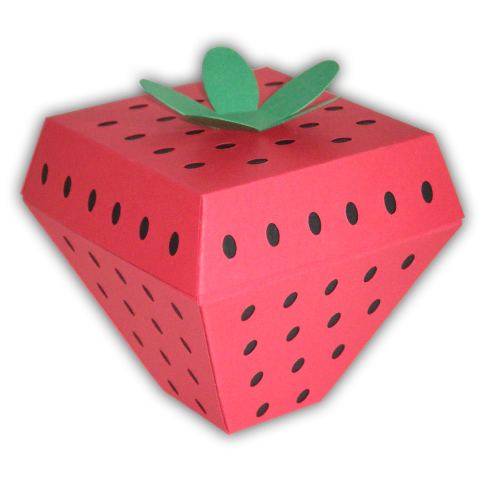 Strawberry Gift Boxes Template
