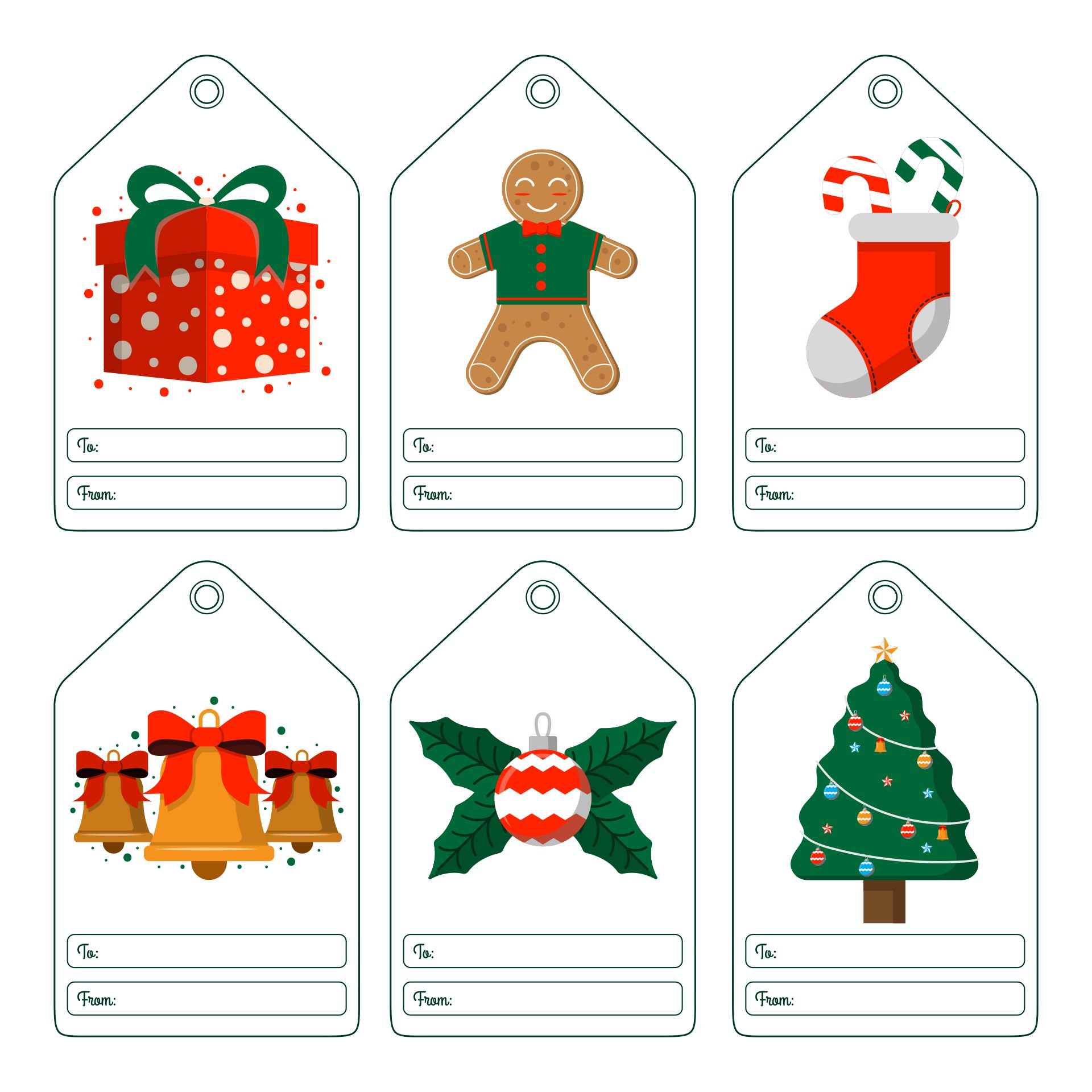 7 Best Printable Christmas Gift Tags Personalized Printablee Com