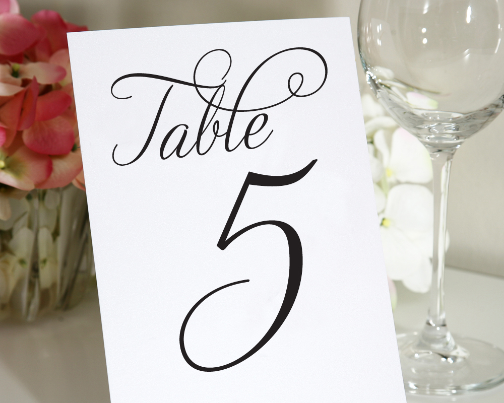 7 best images of wedding table numbers printable 4x6 for Table numbers