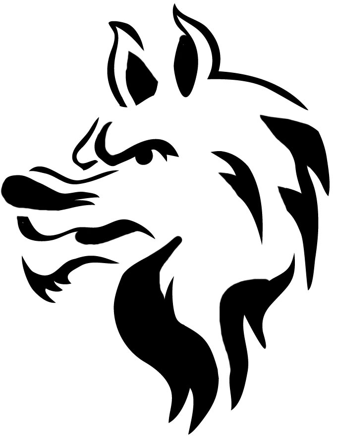 Wolf Pumpkin Carving Stencils Patterns