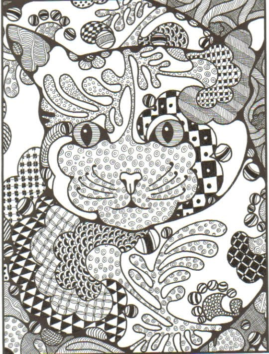 free zentangle elephant coloring pages - photo#36