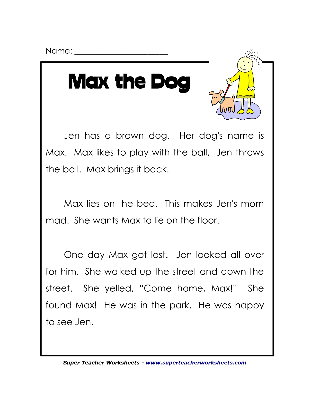 This is an image of Amazing Printable 2nd Grade Reading Worksheets