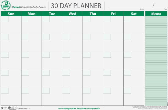 Best Images of 30-Day Blank Calendar Printable - 30-Day Blank ...