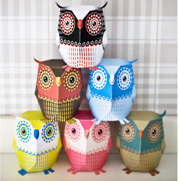 3D Owl Template Printable
